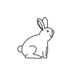 cute rabbit mascot icon vector image