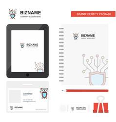 Cyber security business logo tab app diary pvc vector