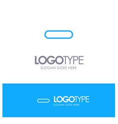 Delete less minus remove blue outline logo place vector