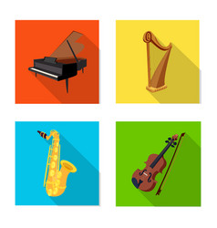 Design of music and tune logo collection vector