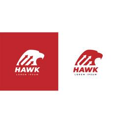 Eagle hawk logo icon vector