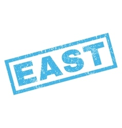 East rubber stamp vector