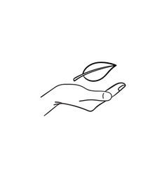 Environment protection hand drawn sketch icon vector