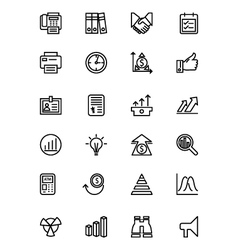 Finance Line Icons 4 vector image