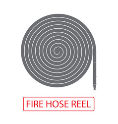Fire hose reel icon isolated on white background vector