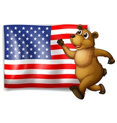 Flag and Bear vector image