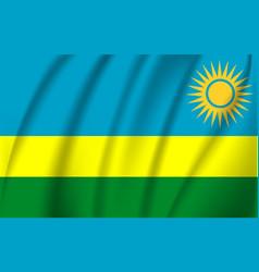 flag rwanda realistic waving rwanda vector image