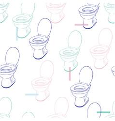 flush toilet seamless pattern vector image