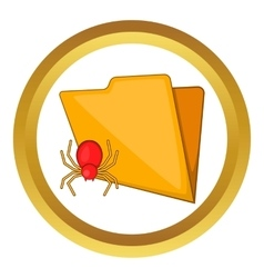 Folder with a bug icon vector