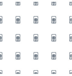 football on phone icon pattern seamless white vector image