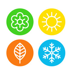 Four seasons logo set vector