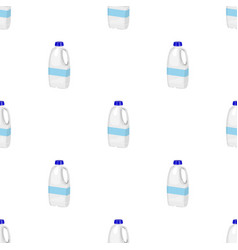 Gallon plastic milk bottle icon in cartoon style vector