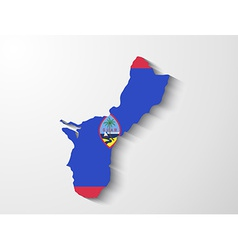 guam country map with shadow effect presentation vector image
