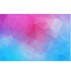 horizontal abstract polygonal banner vector image