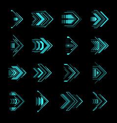 hud arrows futuristic navigation sci fi pointers vector image