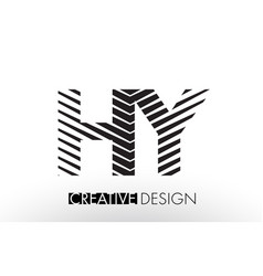 hy h y lines letter design with creative elegant vector image