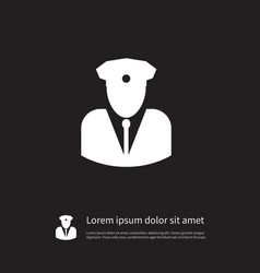 isolated security man icon agent element vector image