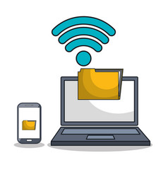 Laptop icon technology digital isolated vector