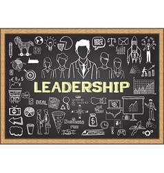 Leadership on chalkboard vector