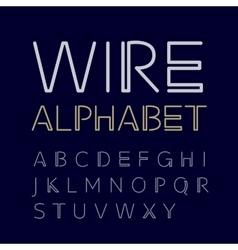 Linear uppercase alphabet vector