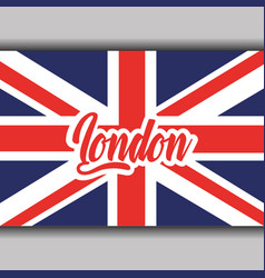 London text with england flag national symbol vector