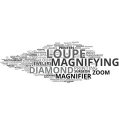 loupe word cloud concept vector image