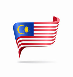 Malaysian flag map pointer layout vector