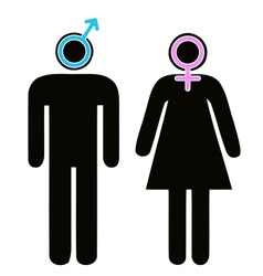 Male and female signs in pictogram vector image