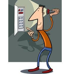 Man fix electricity cartoon vector