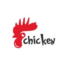 modern chicken livestock logo vector image
