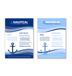 nautical document templates with ship anchor icon vector image