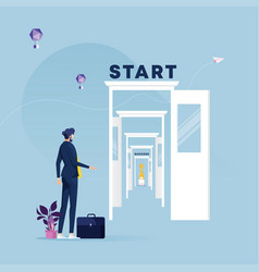 new ways to success vector image