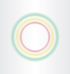 optical circle element vector image