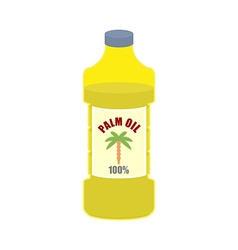 Palm oil bottle Plastic bottle for food vector image