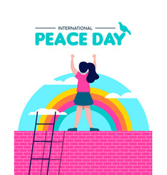 Peace day for world children freedom vector