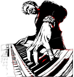 pianist vector image