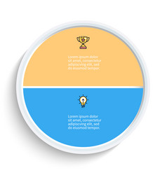 Pie chart presentation template with 2 vector