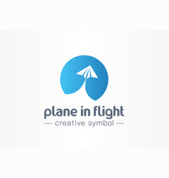 plane in flight creative symbol concept paper air vector image
