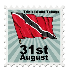 Post stamp of national day of Trinidad and Tobago vector