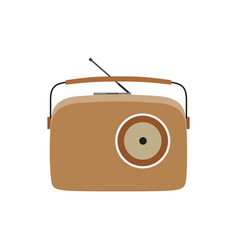 radio vintage retro old music speaker sound vector image