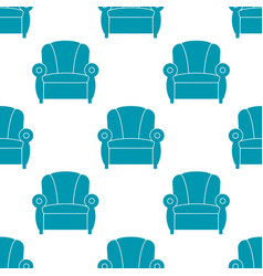 recliner with armrests seamless pattern vector image