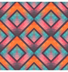 Retro seamless pattern with squares hand drawn vector image