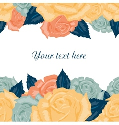 seamless floral background with text vector image