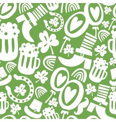 Seamless StPatricks day pattern vector image