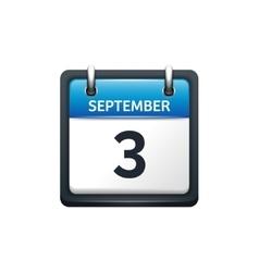 September 3 Calendar icon vector