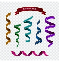 Set of colourful ribbons vector