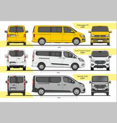 Set passenger vans l2h1 vector