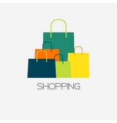 Shopping Bag Design Background vector