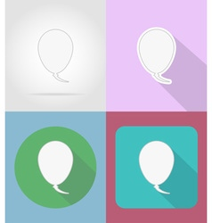 speech bubbles flat icons 14 vector image