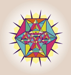 Star Tetrahedron poster vector